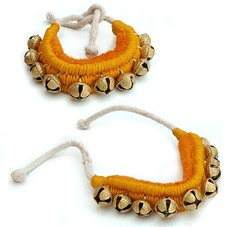 Ghungroo Pair, 1 line of Bells Mounted on Good Quality Pads