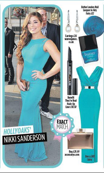 Nikki Sanderson - Red carpet glam. Get this look at @butterlondon @benefitbeauty @lipsylondon @accessoryostyle