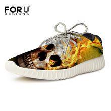 Homens respirável Sapatos Casuais Homens Moda Outono Crânio Impressão Masculino Calçado Sapatilhas Sapatos Casuais Sapatos de Caminhada 39-45(China (Mainland))