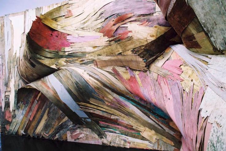PAINT IS WOOD: HENRIQUE OLIVERADisplay Installations, Book Sculpture, Art Inspiration, Artists Henrique, Artists Shit, Artsy Fartsy, Henrique Olivera, Henrique Oliveira, Inspiration Colours