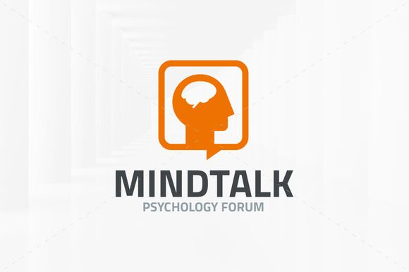 Mind Talk Logo Template by LiveAtTheBBQ on Creative Market