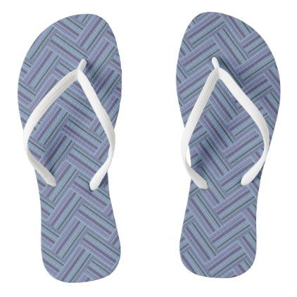 e223701b68da Blue-grey stripes double weave pattern flip flops -  womens  shoes ...