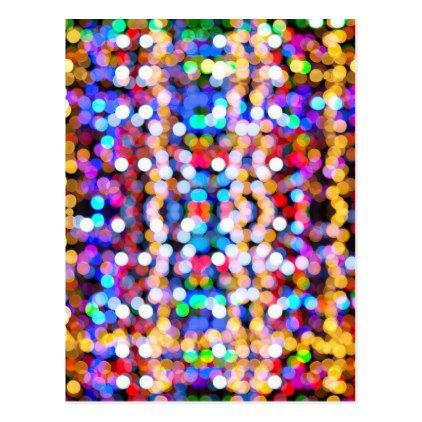 Colourful Bokeh Blurred Light Abstract Pattern Postcard - merry christmas postcards postal family xmas card holidays diy personalize