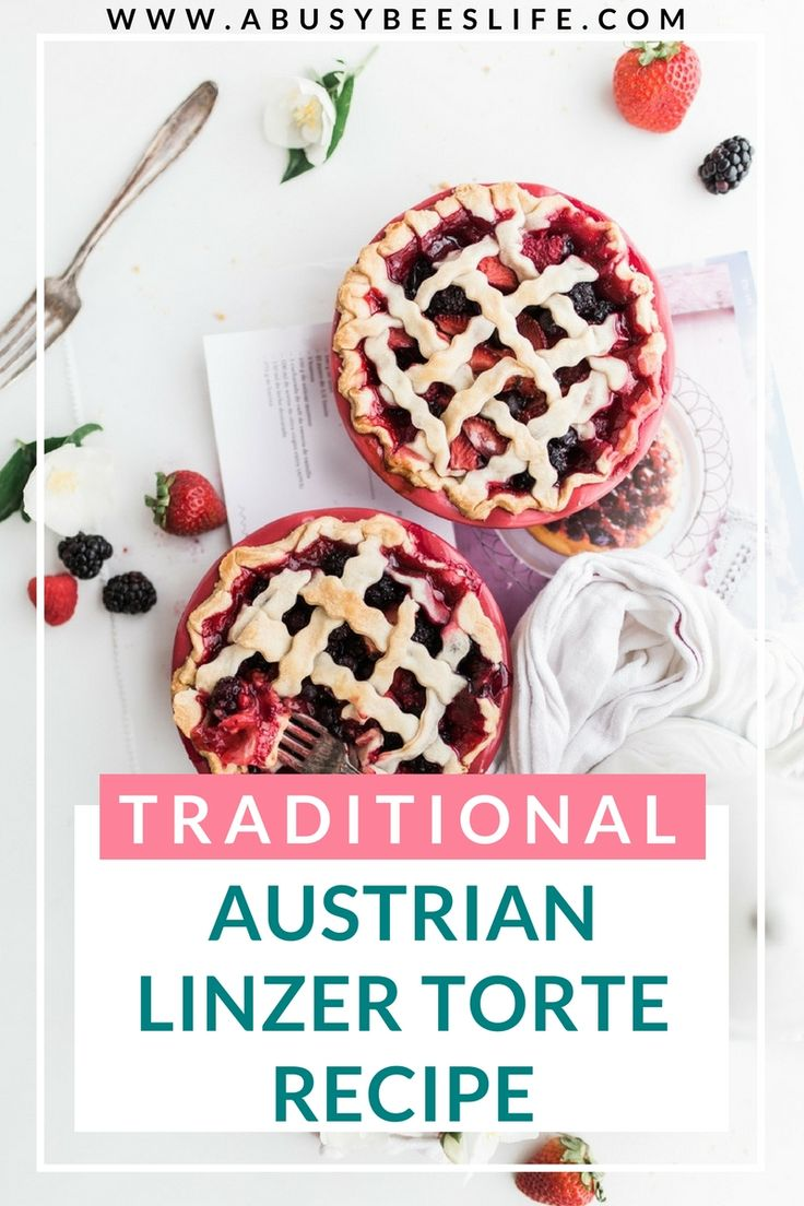 The Austrian Linzer Torte is the oldest cake in the world and is simply scrumptious. Here's how to replicate this amazing traditional recipe! #Austria #desserts #LinzerTorte #lecker via @abusybeeslife
