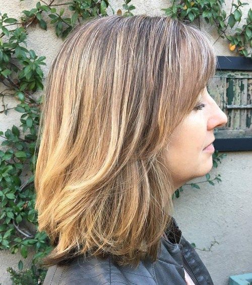 Mid-Length Haircut For Thick Hair