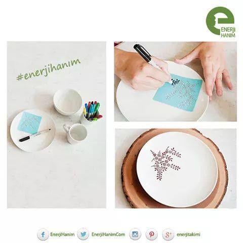 Alışveriş yapmak çok zevkli ama kendin yapmak çok daha zevkli! Evdeki düz renk porselenlerinizi zevkinize göre tasarlayabilirsiniz. Tek yapmanız gereken istediğiniz desenin kağıt çıktısını ve porselen kalem almak! #enerjihanım #enerji #porselen #diy #kendinyap #alışveriş #tasarım #haftasonu