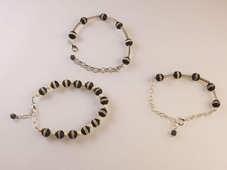 Agate & Silver Bracelets