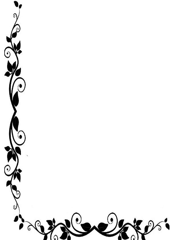 Bordes de pagina de flores | Imagenes para imprimir.Dibujos para imprimir
