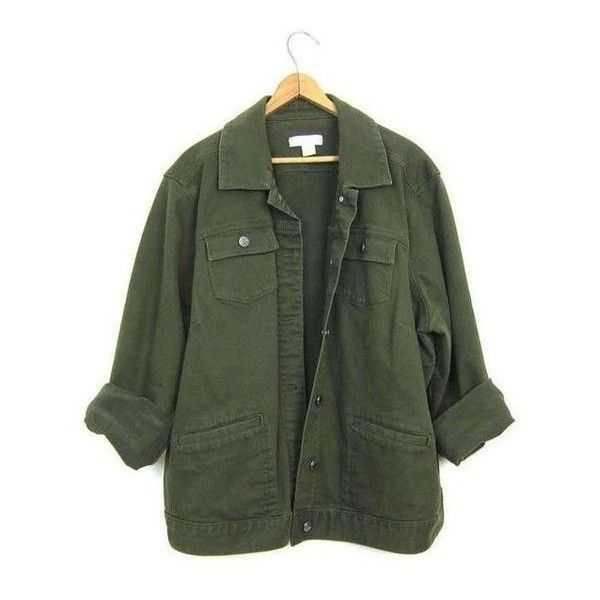 5bb926185 Vintage Army Green Jean Jacket 90s Dark Green Denim Grunge Jacket ...