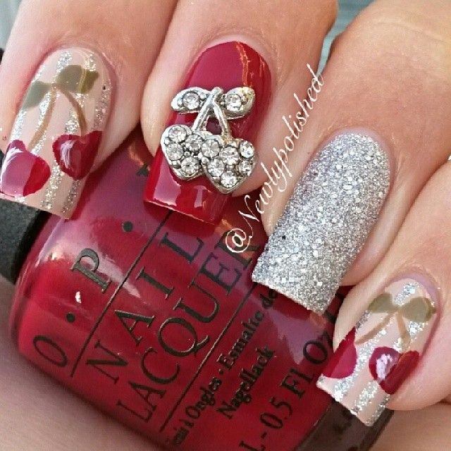 cherry by newlypolished  #nail #nails #nailart