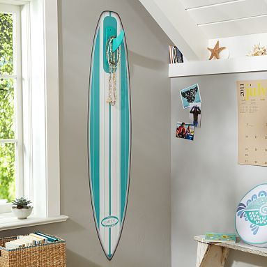 Add decals or paint to make it look more feminine pool for Surfboard decor for bedrooms