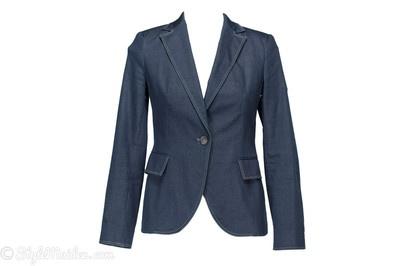ZARA BASIC One-Button Cotton Blend Blazer Size M at http://stylemaiden.com