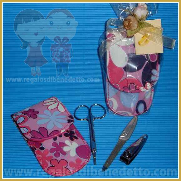 Estuche con set de manicura que incluye: tijeras, lima y cortauñas. #Detalles #Bodas #Wedding #Details