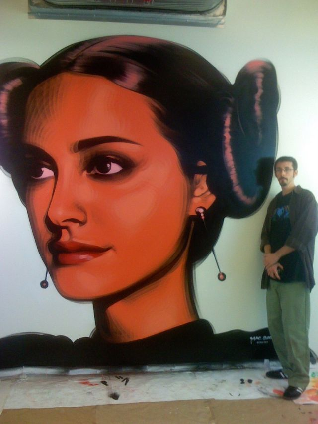 incredible urban art ...................Padmé
