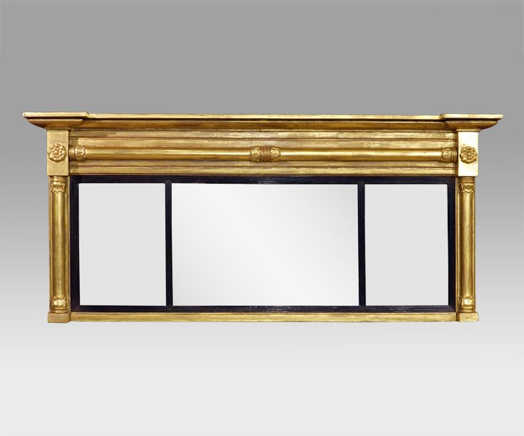 Antique Gilt Overmantel Mirror, Antique Wall Mirror, 3 Plate Overmantel  Mirror, Gold Overmantel Mirror, Gilt Overmantle Mirror : Antique Wall  Mirror ...