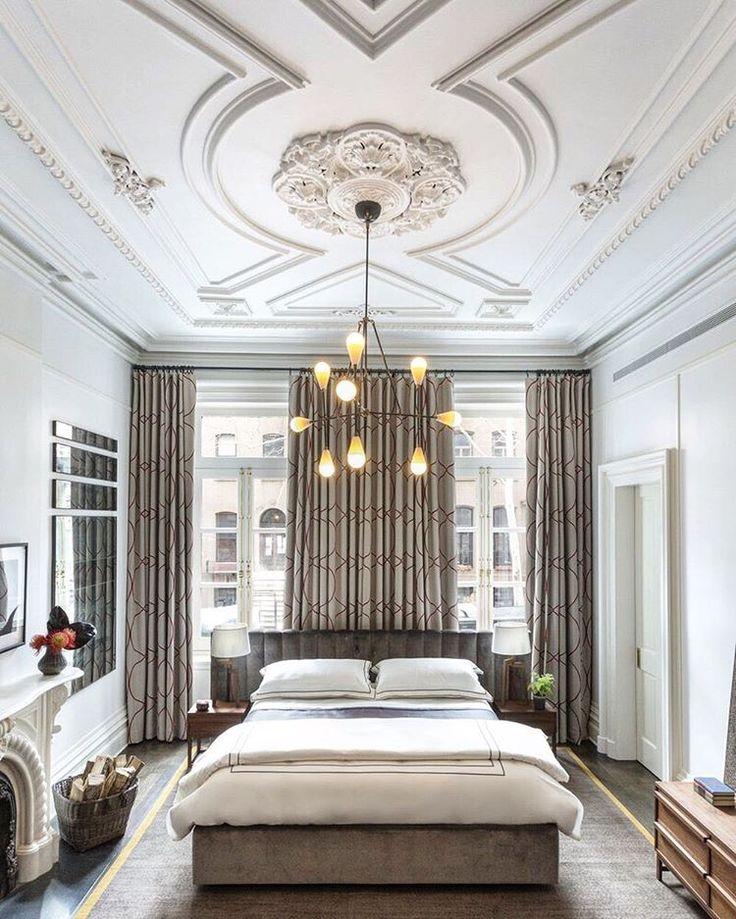 Stunning neutral East Village, NY bedroom by @drewmcgukin. Photo by Brett Beyer