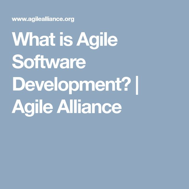 What is Agile Software Development? | Agile Alliance