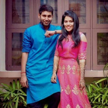 Wedding Bell for #Kavignar #Kannadasan's grandson Actor #Aadhav #Kannadasan got #engaged to #Vinodhnie Suresh. #StarsMarriage #StarsWedding #CineUpdate #ChennaiUngalKaiyil