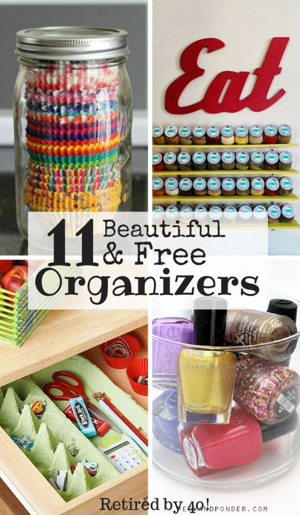 Organizing your house doesn't need to be expensive!  Organize your whole house with the free organizers to make both your family and budget happier! http://www.retiredby40blog.com/2015/03/26/11-beautiful-free-organizers/