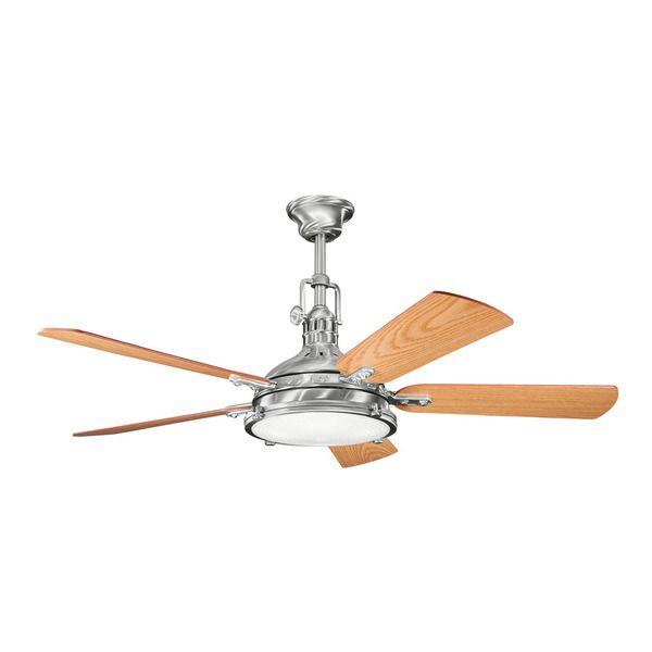 The 25 best stainless steel ceiling fan ideas on pinterest kichler lighting hatteras bay 56 inch brushed stainless steel ceiling fan wlight mozeypictures Gallery