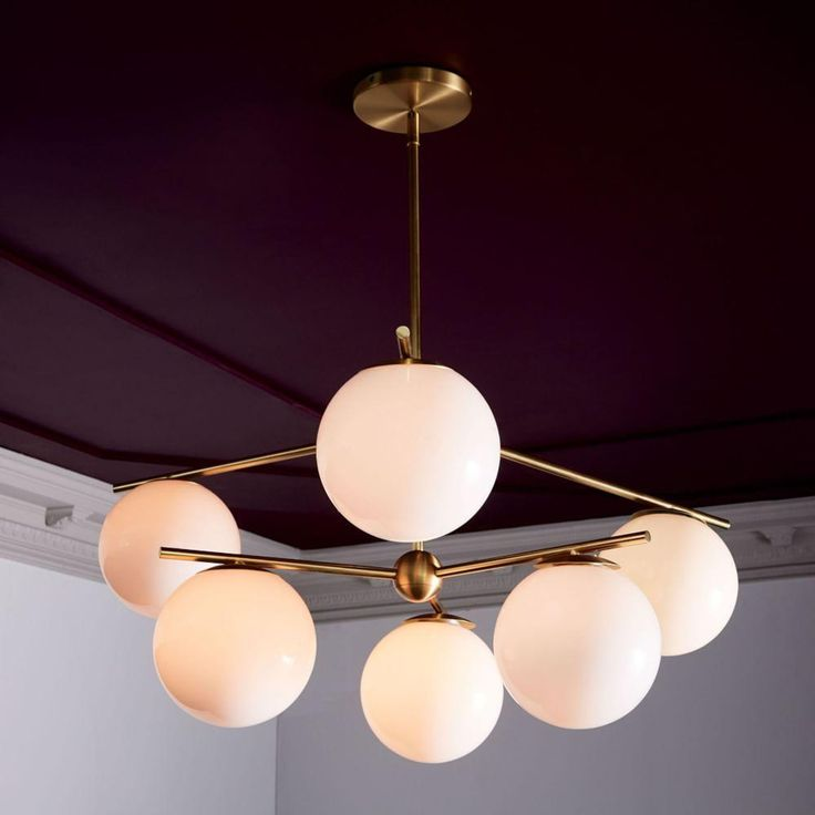 Sphere + Stem Ceiling Lamp