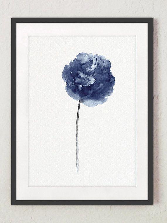 Peony aquarel schilderij Home Decor abstracte bloemen set van 4. Marineblauwe pioenrozen moderne Wall Decor. Floral illustratie minimalistische Flower Art Print. Er is een prijs voor de set van 4 verschillende Peony Art Prints zoals in de eerste afbeelding.  Het soort papier: Afdrukken tot (42 x 29, 7cm) 11 x 16 inch formaat worden afgedrukt op archivering Acid gratis 270g/m2 aquarel Fine Art Witboek en behoudt het uiterlijk van het originele schilderij. Grotere afdrukken worden afgedruk...