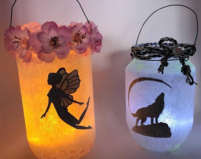 Fairy, fairy light handmade lanterns to hang in the garden