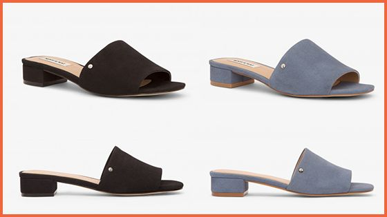 The Manya Mules, also from the Flair Casual Collection, are now available in elegant Sky & Black!
