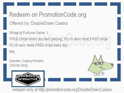 <b>Wheel of Fortune Game: 1 Million FREE Chips when you start playing, PLUS earn more FREE chips every day. </b> coupon