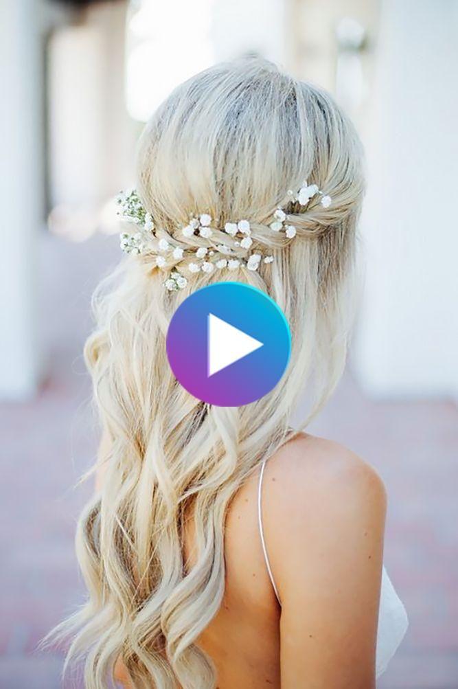 45 Perfekte Halbhoch Halber Abstieg Der Hochzeit Frisuren In 2020 Wedding Hair Down Bridesmaid Hair Wedding Hairstyles