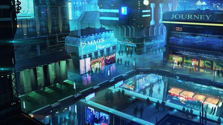 Sci-Fi club expand by mrainbowwj | Digital Art / Drawings & Paintings / Landscapes & Scenery | Sci-Fi Futuristic Concept City Metropolis Cyberpunk