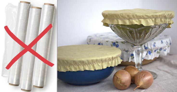 """Sy den en gång, använd den hundra. Hemsydda """"luvor"""" till skålarna i huset hjälper dig spara mat utan plastfolie."""