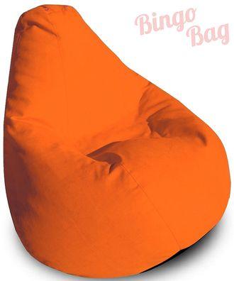 Кресло-мешок Замша 37 (оранжевый)