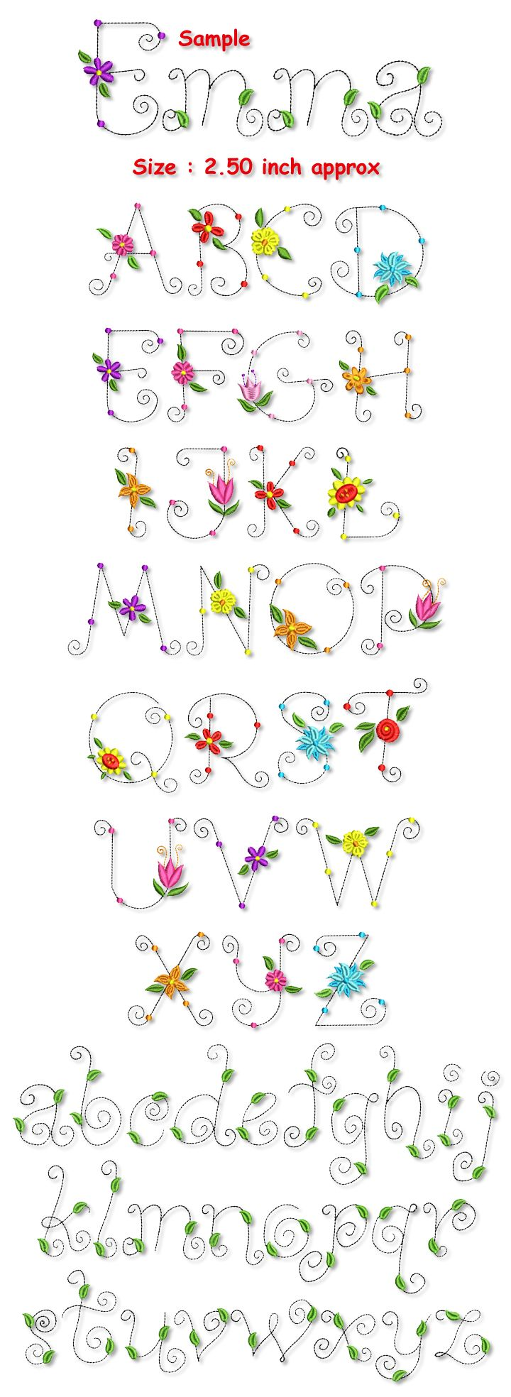 Whimsical lettering   Blossom Whimsical Font Collection