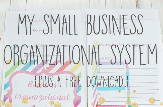 Maintaining a small business organization system can be really overwhelming when you're only one person. I've got a system that might work for you!