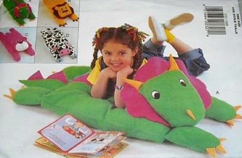 OOP & HTF ANIMAL PILLOW Covers Sewing Pattern  Dinosaur Cow #patterns4you