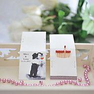 Cajas de fósforos personalizados - Sweet Kiss (juego de 50)