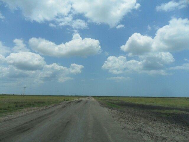 Gravel road Mozambique Africa.