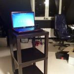 Standing Workplace - Triple Lack side-table - ...