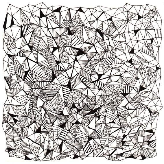 pattern by krisztiballa #mesh #pattern #patterndesign #krisztiballa #triangle #surfacepatterndesign #bw