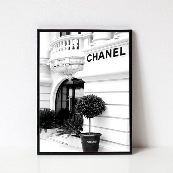 Drucken++Chanel+Chanel+Poster++Chanel+Mode++Mode+von+LoftODecor