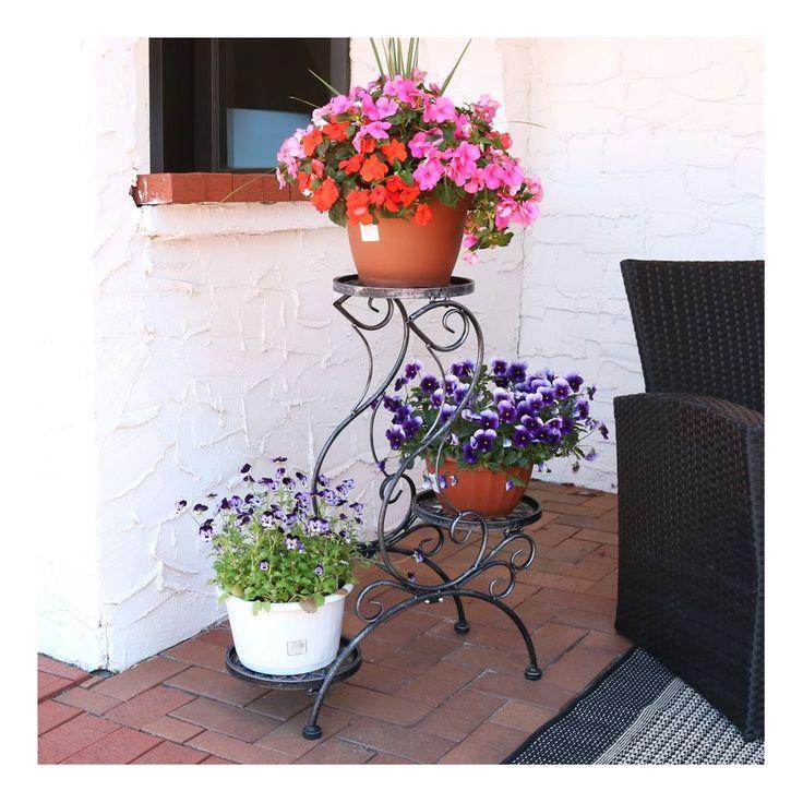 25 unique outdoor plant stands ideas on pinterest diy. Black Bedroom Furniture Sets. Home Design Ideas