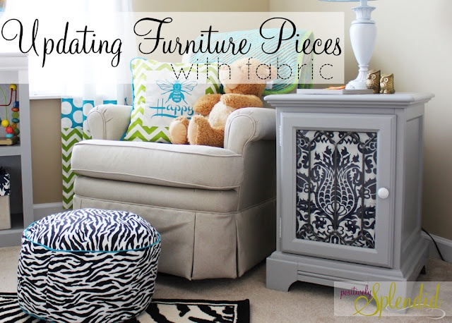 Update w/fabric: Side Tables, Diy Furniture, Dresses Up, Positive Splendid, Updates Furniture, Home Decor, Furniture Pieces, End Tables, Baby Rooms