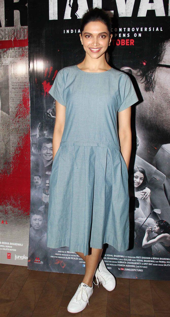 Deepika Padukone at a screening of #Talvar. #Bollywood #Fashion #Style #Beauty #Hot