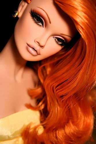 Poppy Parker, Red Haired Bombshell, Custom Repaint and Reroot.