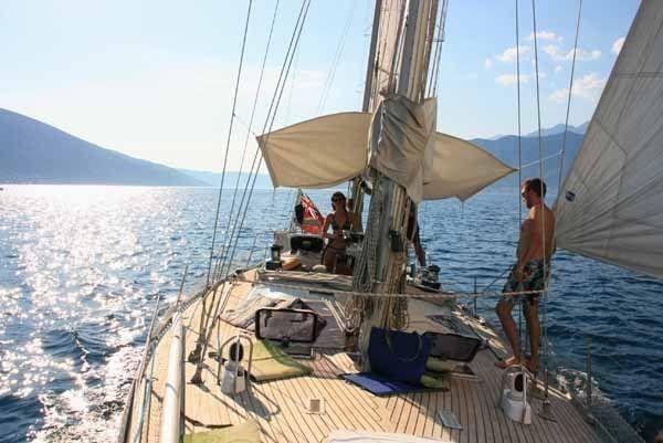 Sailing trips on Yacht Monty B in Tivat Bay Montenegro