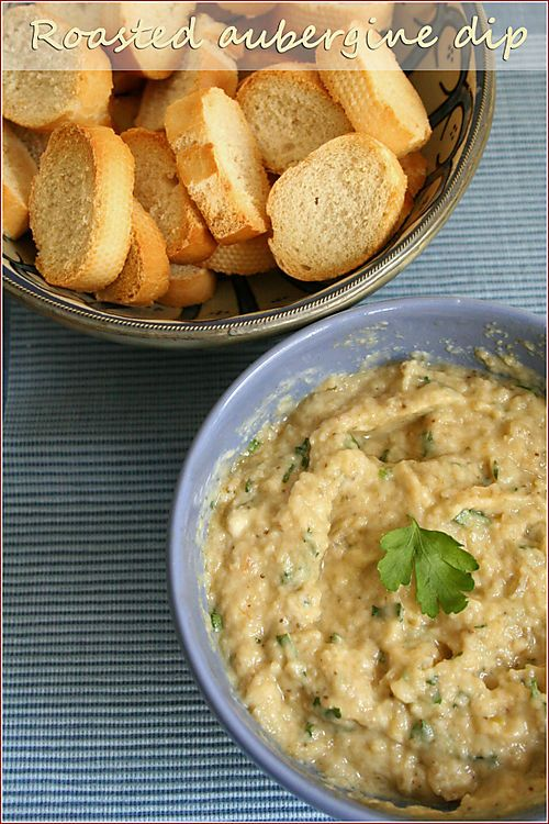 Garlicky (and very easy!) roasted aubergine dip