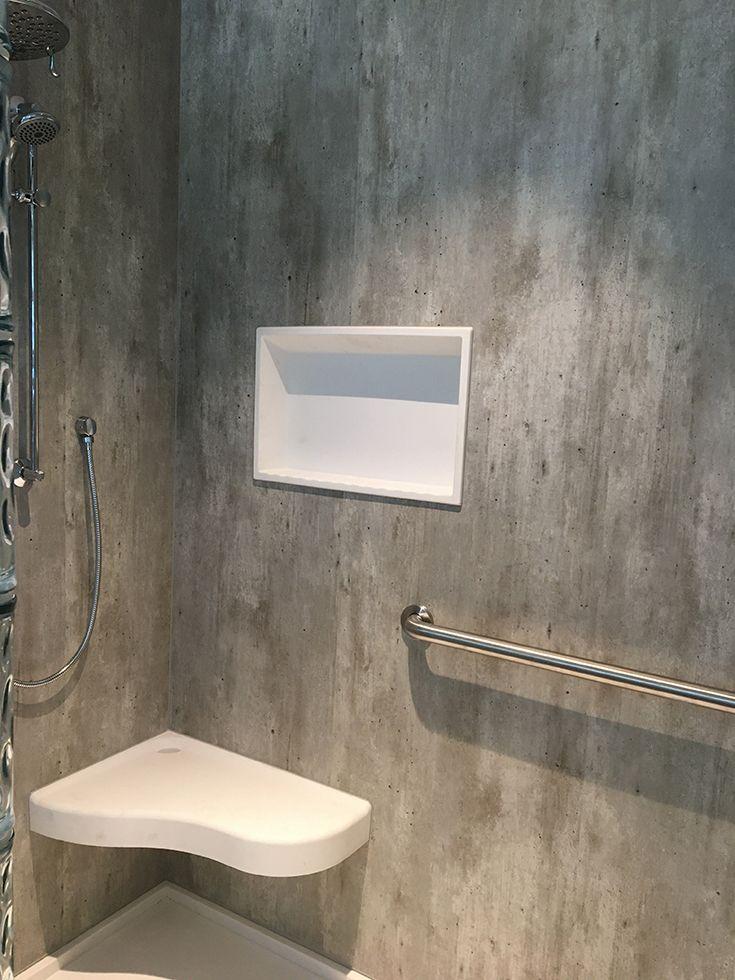 How To Design A Nature Inspired Bathroom Without A Lot Of Money Or Maintenance In 2020 Concrete Shower Cement Design Diy Shower