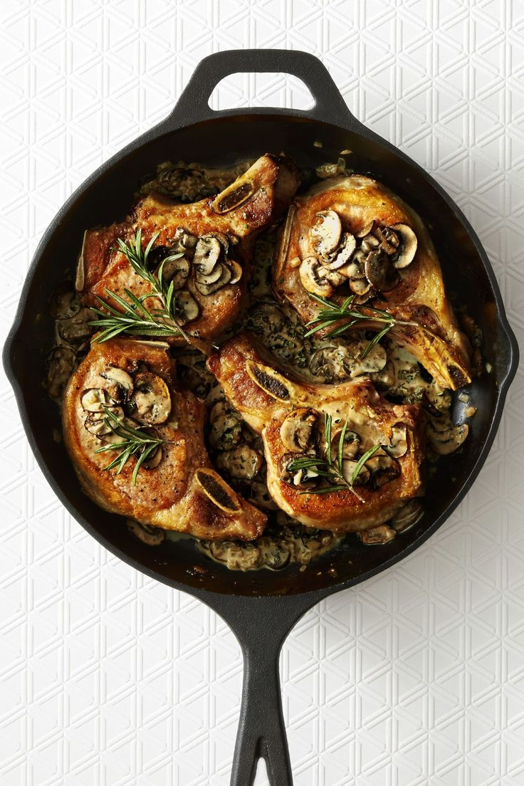 Pork Chops with Rosemary Truffle Sauce