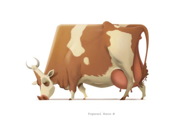 Cow, Hunor Fogarasi on ArtStation at https://www.artstation.com/artwork/n0gDO